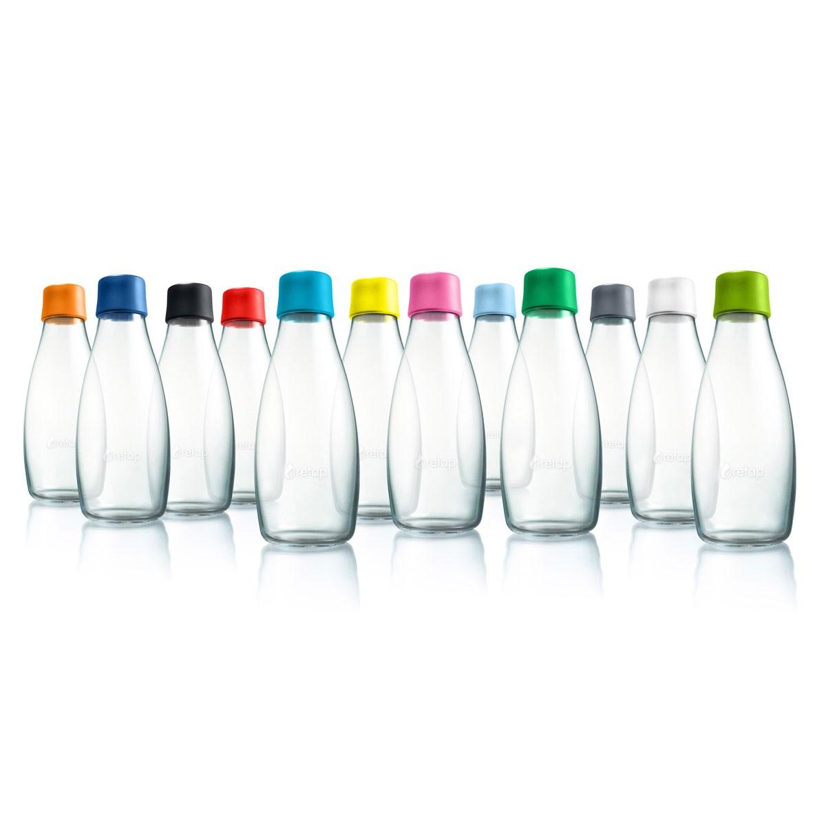 Wiederverwendbare Wasserflasche mit Verschluss - 0,8 Liter von retap