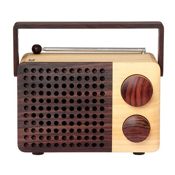 Wooden radio IKoNO++ (inkl. Anschluss für iPhone/iPod/MP3-Player) - Bild 1