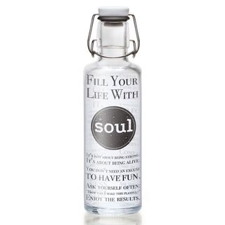 "soulbottle ""Fill Your Life With Soul"" 0,6 Liter - Trinkflasche aus Glas"
