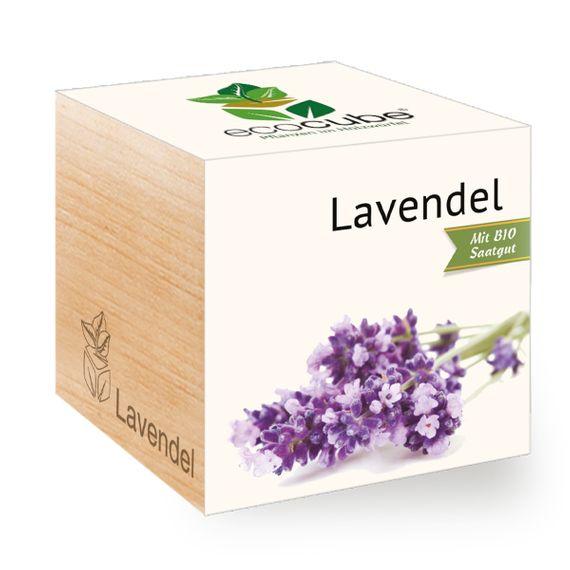 Lavendel im Holzwürfel - Bild 1
