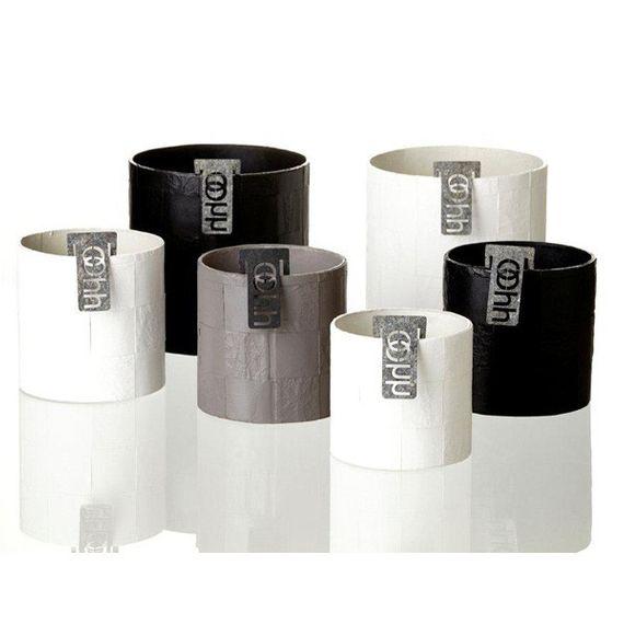 "Recyclingübertopf - ""Braid Cylinder"" (medium) - Bild 1"