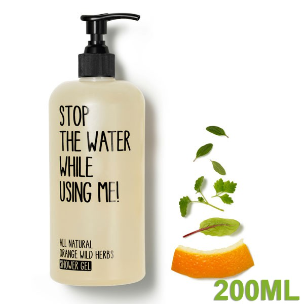 All Natural Orange wild herbs Showergel 200 ml von STOP THE WATER WHILE USING ME!
