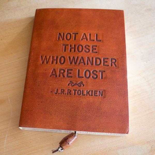 Fair trade Notizbuch aus Leder von Only Natural