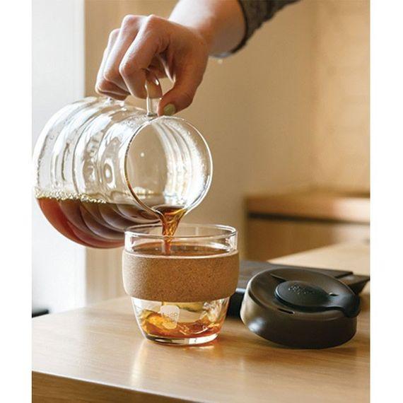 Coffee to go Becher aus Glas mit Grifffläche aus Kork - Brew Cork Edition - Small 227ml - Bild 11
