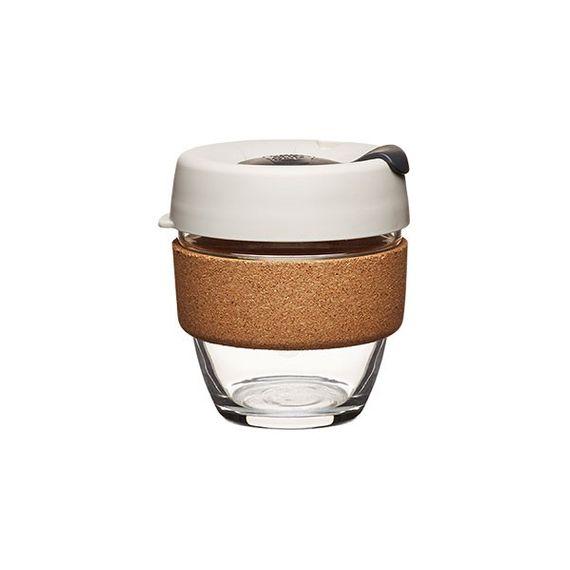 Coffee to go Becher aus Glas mit Grifffläche aus Kork - Brew Cork Edition - Small 227ml - Bild 3