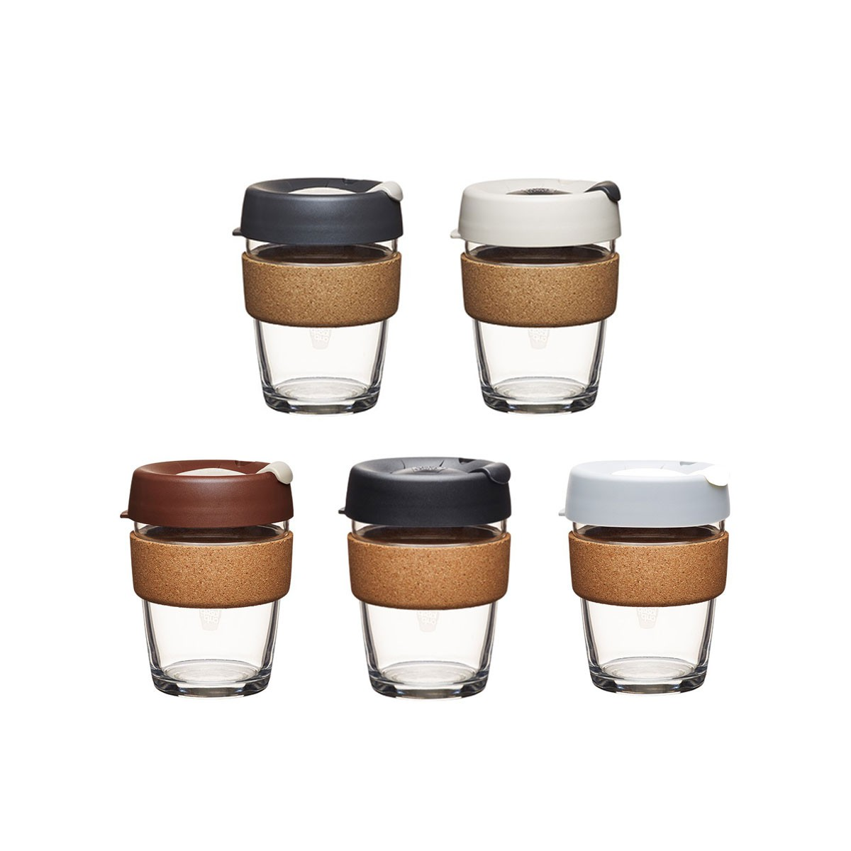 coffee to go becher aus glas mit grifffl che aus kork brew cork medium 340ml von keepcup. Black Bedroom Furniture Sets. Home Design Ideas