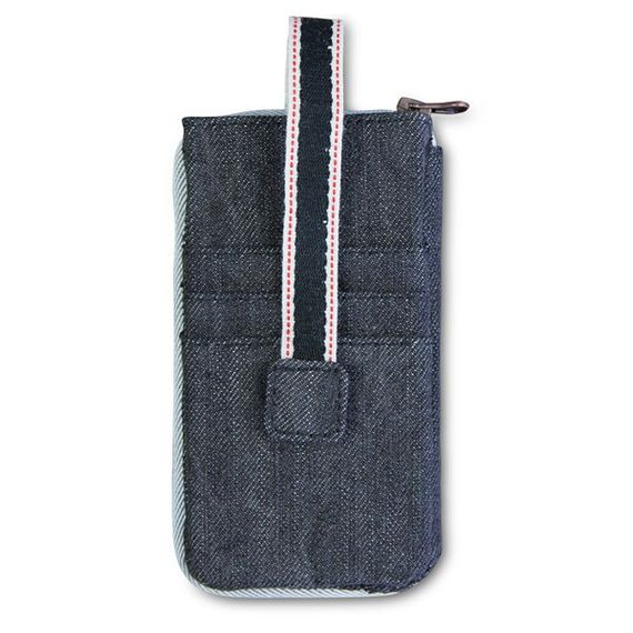 "Upcycling Handyhülle für iPhone 5 + 5S aus 100% Jeansstoff ""ALL IN ONE"" - Bild 6"