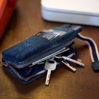 "Upcycling Handyhülle für iPhone 5 + 5S aus 100% Jeansstoff ""RIVER"""