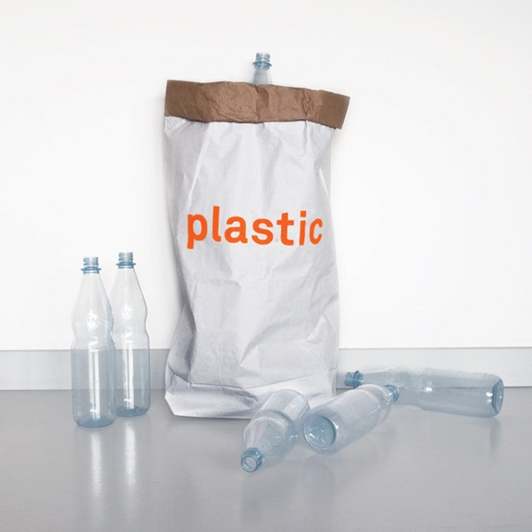 "Altpapiersack 3er Set ""plastic"" - Für Plastik von Kolor"