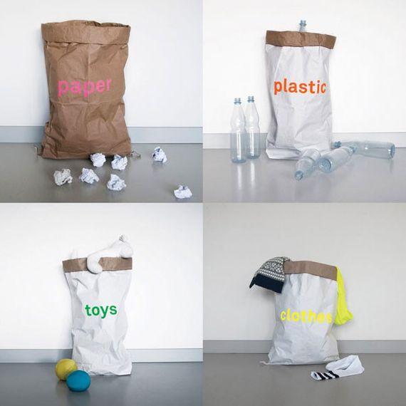 Altpapiersack 4er Set - paper, plastic, toys, clothes - Bild