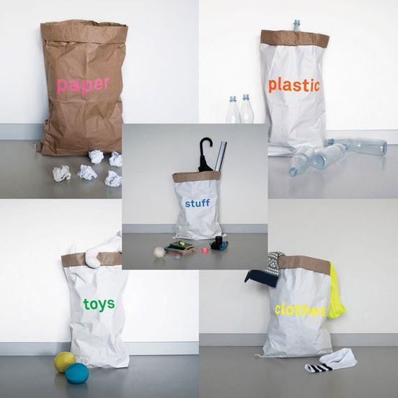 Altpapiersack 5er Set - paper, plastic, toys, clothes, stuff - Bild