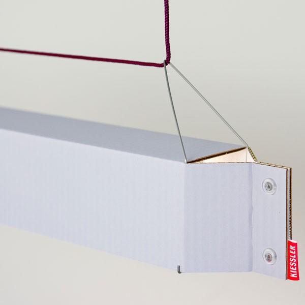 h ngeleuchte numerouno led aus karton grau von kiessler. Black Bedroom Furniture Sets. Home Design Ideas