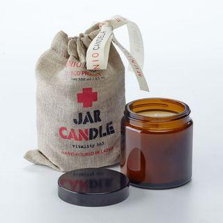 "Duftkerze Apotheca im Glas aus Soja-Wachs ""Brown Jar Candle"" 100ml"