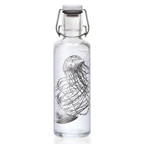 "soulbottle ""Jellyfish in the bottle"" 0,6 Liter - Trinkflasche aus Glas - Bild 1"