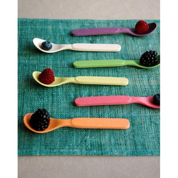 """Buntes Löffelset """"Spoonful of Color"""" - aus Bambusfasern und Mais - Bild 4"""