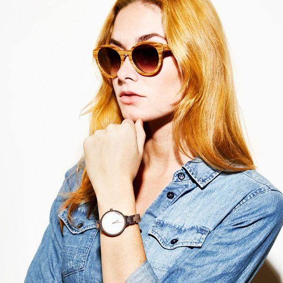 """Hinze"" Black Chacate - Damen-Armbanduhr aus Sandelholz - Bild 4"