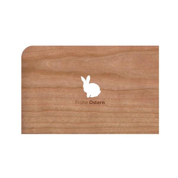 """Holz-Grußkarte """"Frohe Ostern"""" mit Umschlag von Holzpost"""