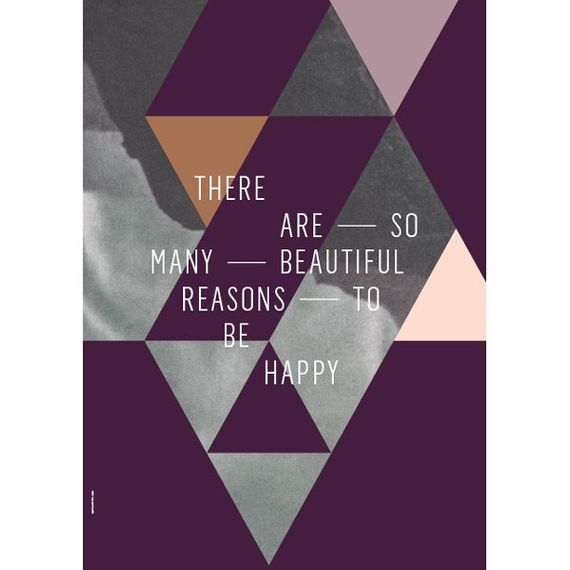 "Poster ""Beautiful Reasons"" (Plum) 50 x 70cm - Bild 1"