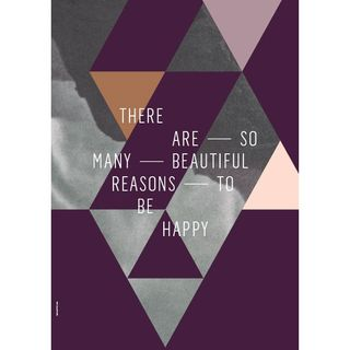 "Poster ""Beautiful Reasons"" (Plum) 50 x 70cm"