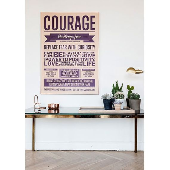 "Poster ""Courage"" (Peach) 50 x 70cm - Bild 2"