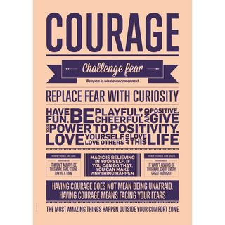 "Poster ""Courage"" (Peach) 50 x 70cm"