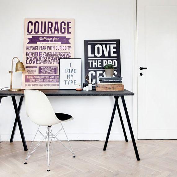 "Poster ""Courage"" (Peach) A3 - Bild 3"