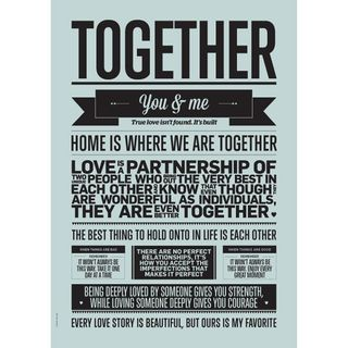 "Poster ""Together"" (Aqua) A3"