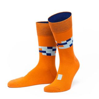 "Herrensocke ""Tempel"" Orange"