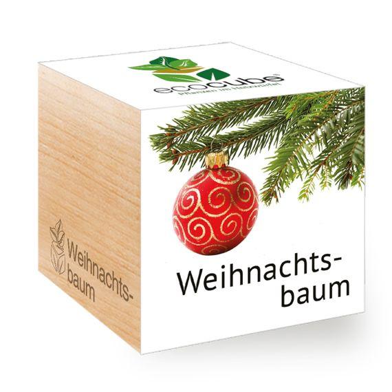 Weihnachtsbaum im Holzwürfel - Bild 1
