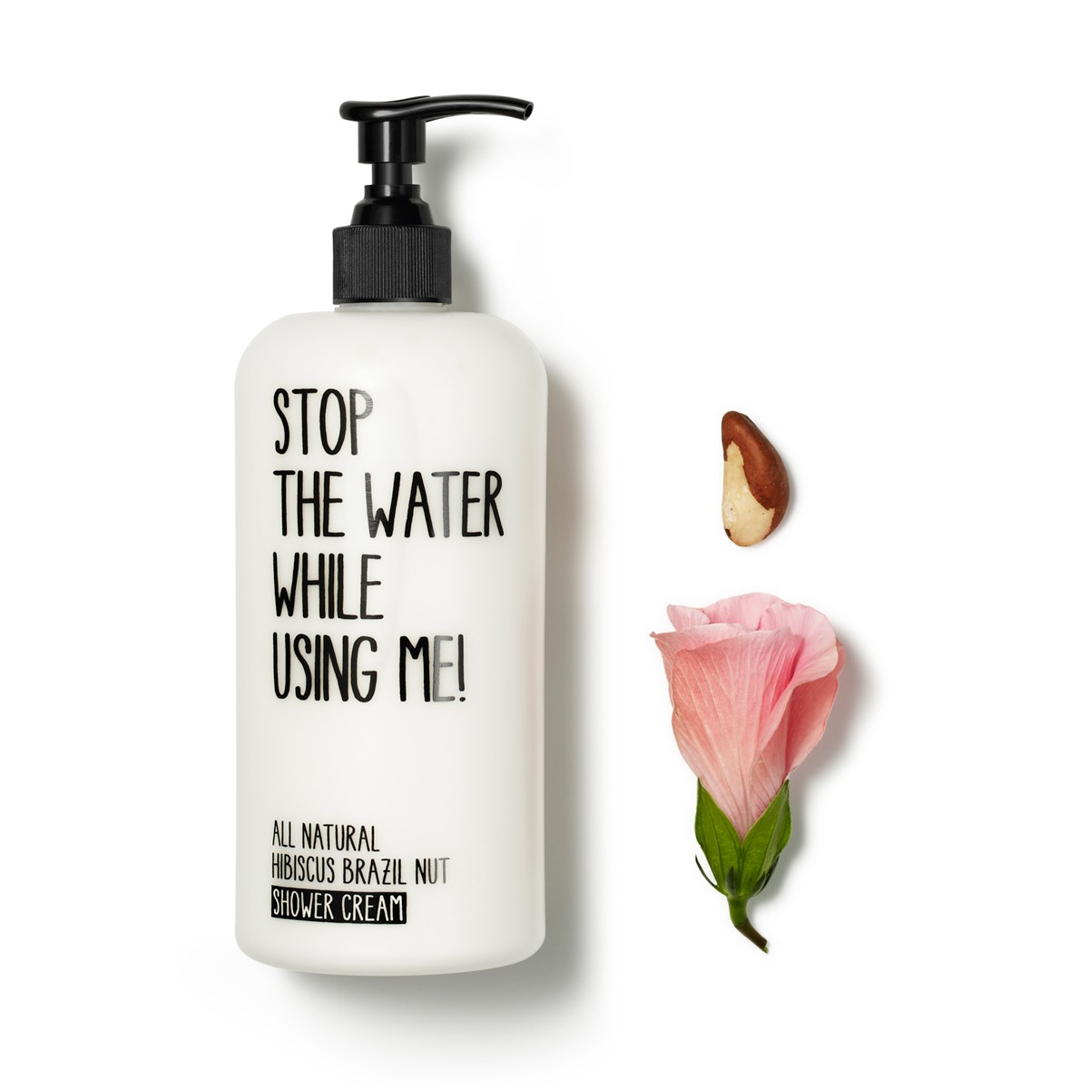 All Natural Hibiscus Brazil Nut Shower Cream 500 ml von STOP THE WATER WHILE USING ME!