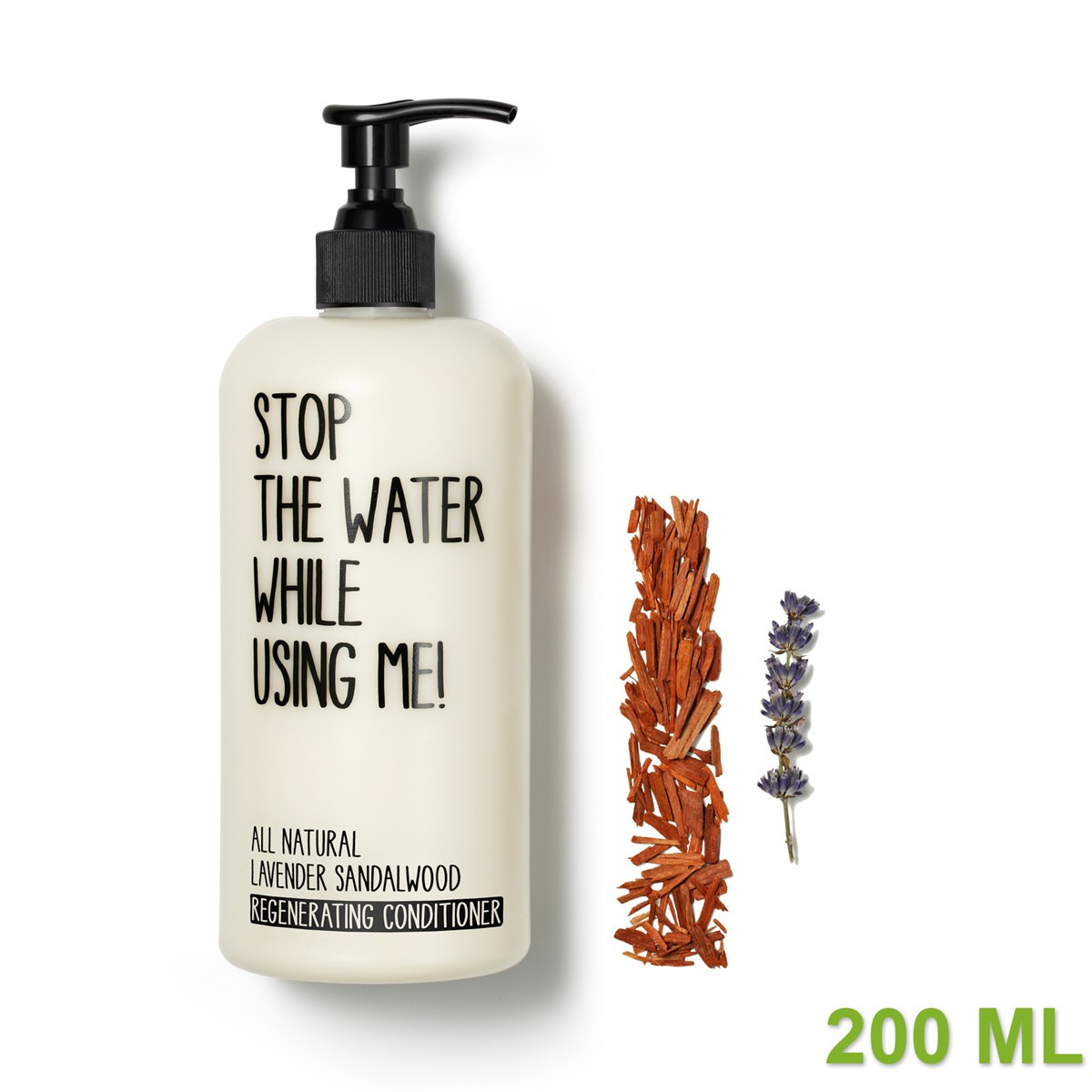 All Natural Lavender Sandalwood Regenerating Conditioner 200ml von STOP THE WATER WHILE USING ME!