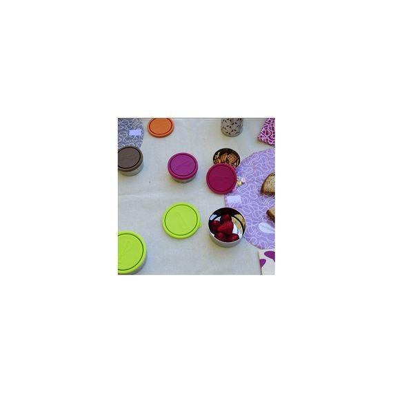 Runde Frischhaltedose aus Edelstahl mit Deckel - Medium (H 5cm, Ø 10cm) - Bild 4
