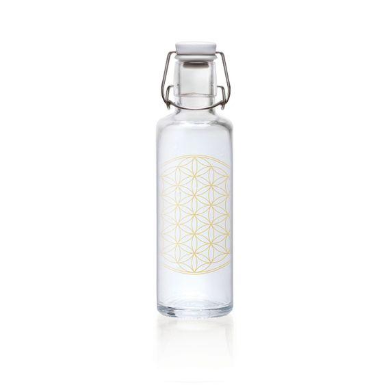 """soulbottle """"Flower of Life"""" 0,6 Liter - Trinkflasche aus Glas - Bild"""