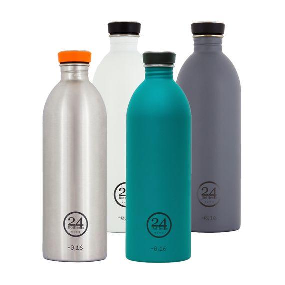 """Trinkflasche """"Urban Bottle"""" aus Edelstahl 1 Liter - Bild 1"""