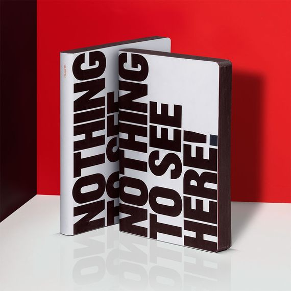 Notizbuch Graphic L – Nothing To See - mit Thermo-Cover - Bild 1