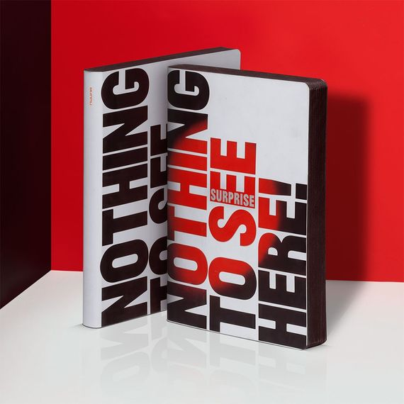Notizbuch Graphic L – Nothing To See - mit Thermo-Cover - Bild 2