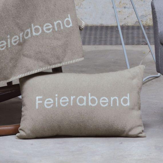"SILVRETTA Kissenhülle ""Feierabend"" 30 x 50 cm - Bild 5"
