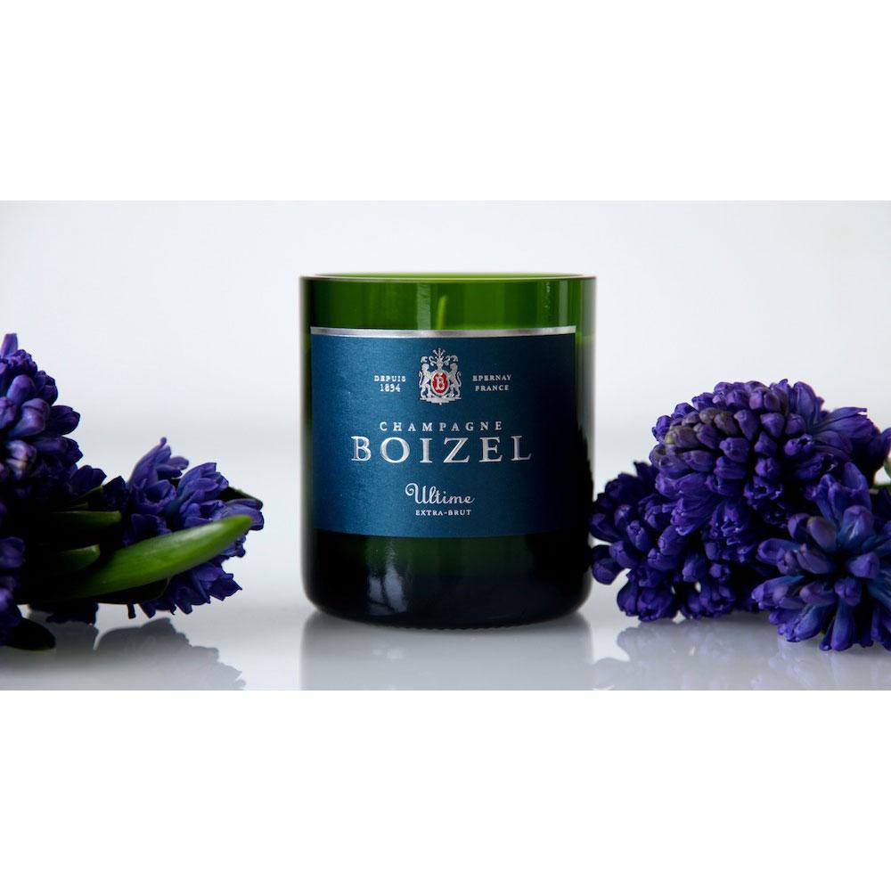 """Duftkerze """"Champagne Boizel Blue Candle"""" von Design Bubbles"""