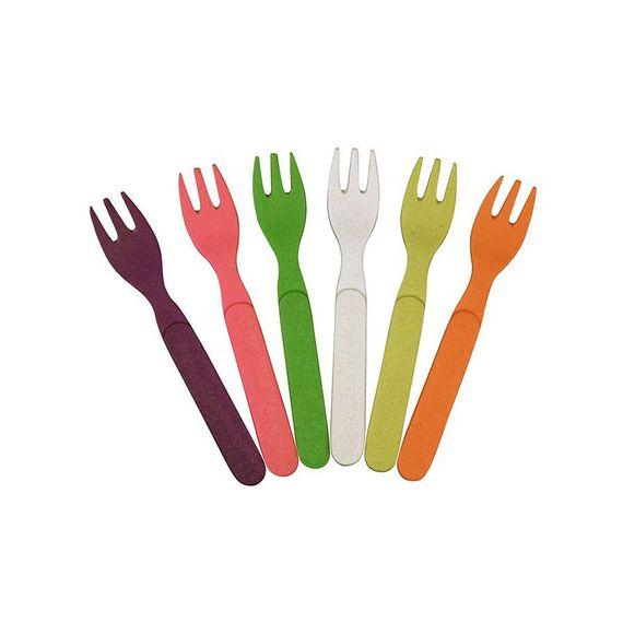 "Buntes Gabelset ""Forkful of Color"" - aus Bambusfasern und Mais - Bild 1"