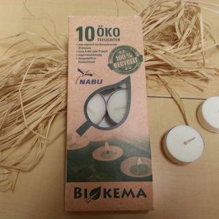 10er Pack Öko-Teelichter mit Aluhülle