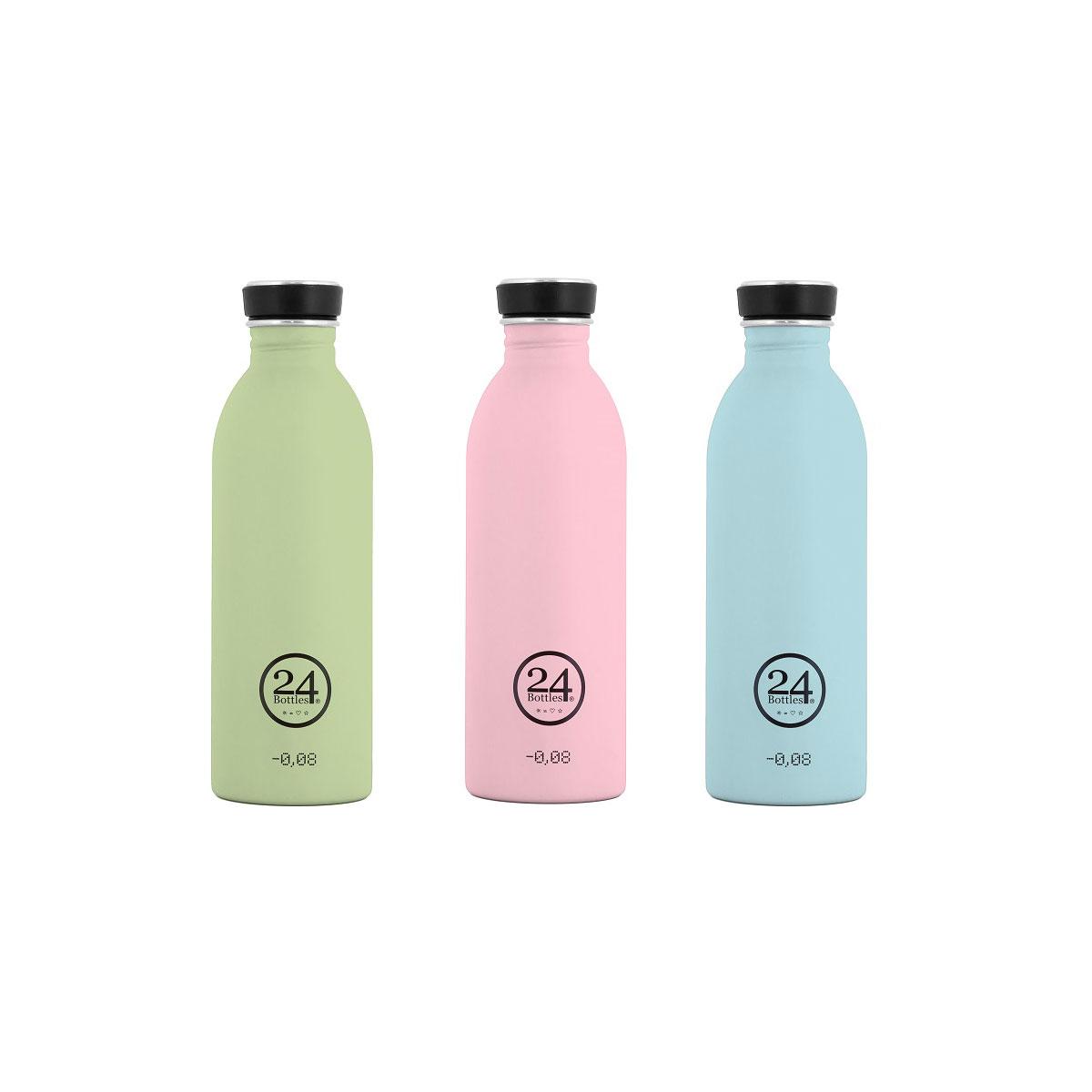 """Trinkflasche """"Urban Bottle - Washed Out"""" aus Edelstahl 500 ML von 24Bottles"""