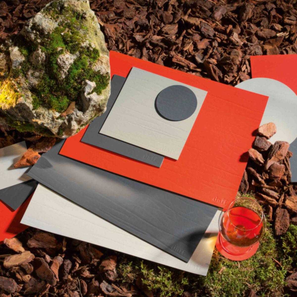 leatherixx Tischset aus recyceltem Leder 31 x 42cm von daff