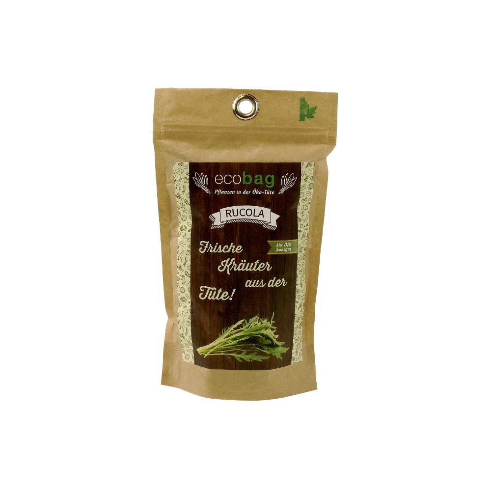 Rucola in der Öko-Tüte von ecobag