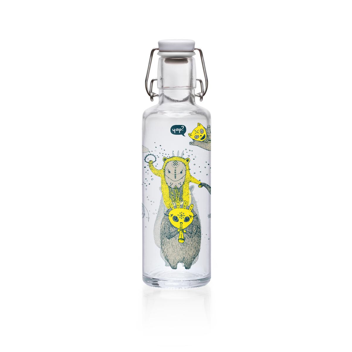 """soulbottle """"YapYap"""" 0,6 Liter - Trinkflasche aus Glas von soulbottles"""