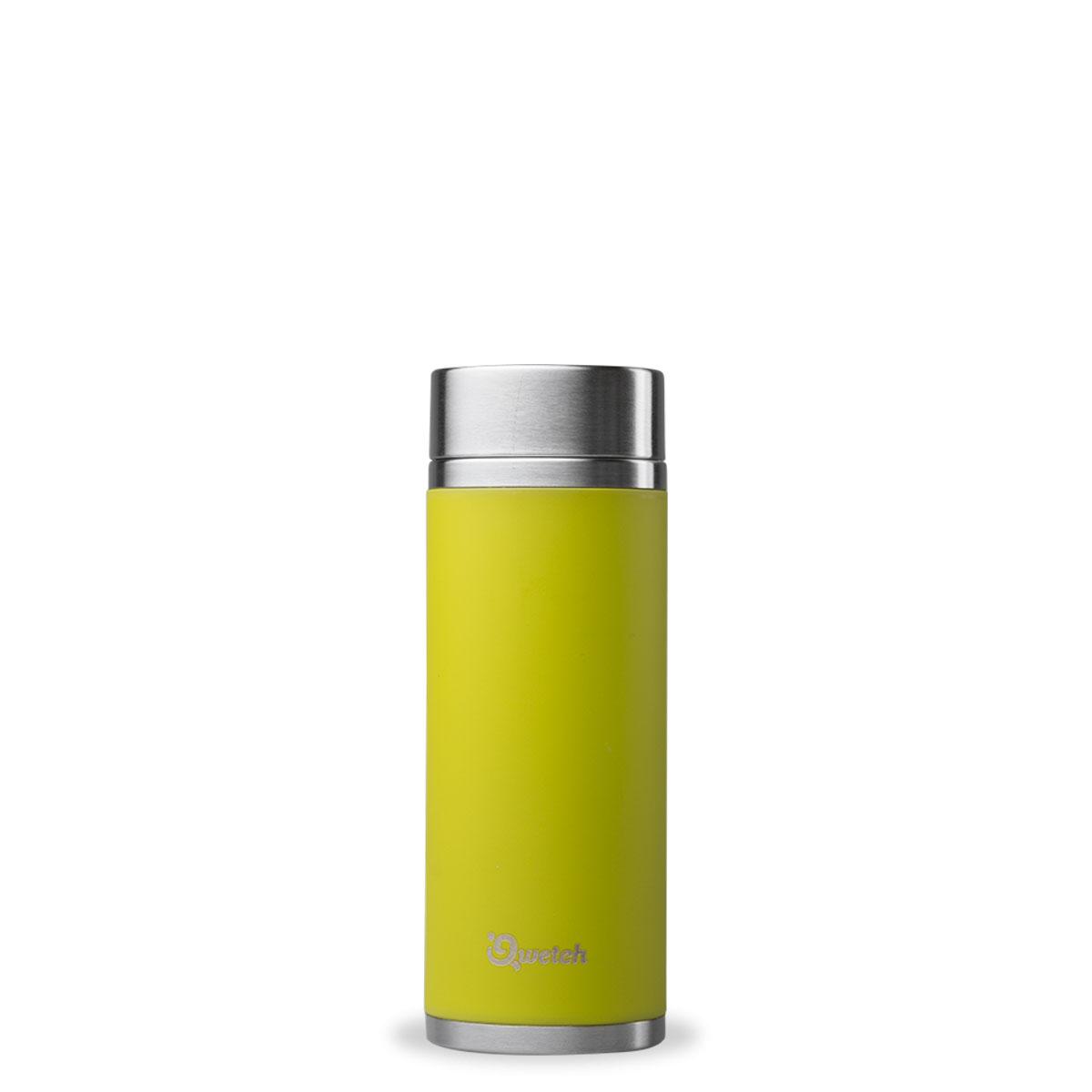 Doppelwandige Trinkflasche mit 2 Teefiltern 300ml aus Edelstahl von Qwetch