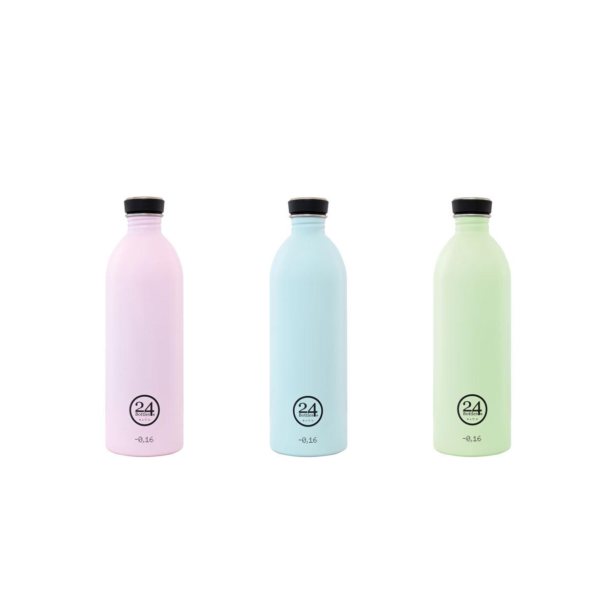 """Trinkflasche """"Urban Bottle Pastel"""" aus Edelstahl 1 Liter von 24Bottles"""