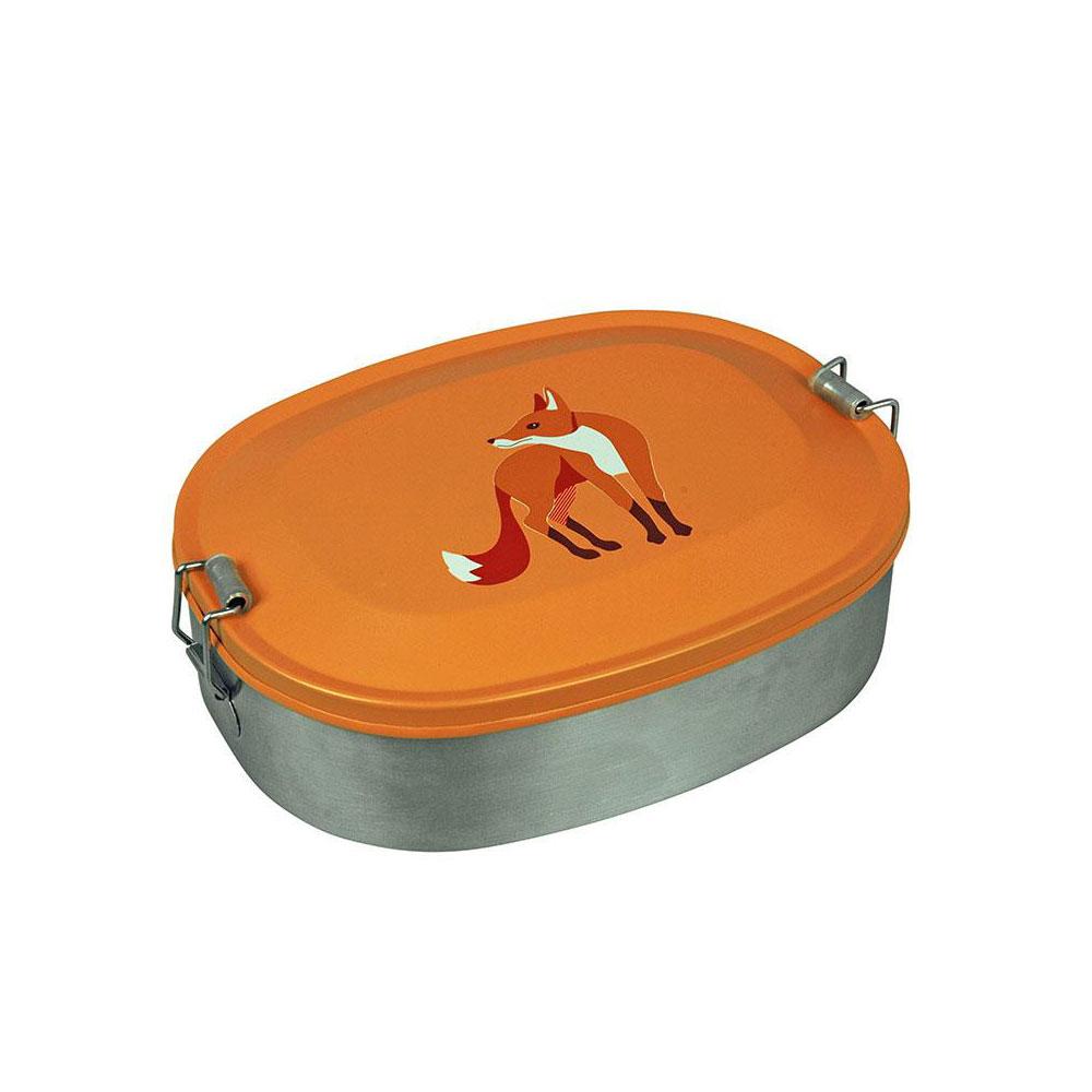 """Brotdose """"Lunchbox Fox"""" aus Edelstahl von The Zoo"""