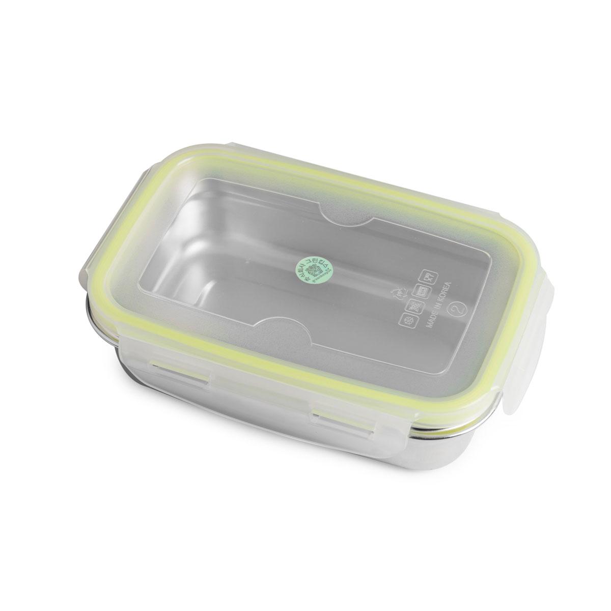 """Lunchbox Small 650ml aus Edelstahl mit praktischem Klickverschluss """"Brotzeit Klick"""" - 100% BPA frei, fest verschliessbar von Brotzeit"""