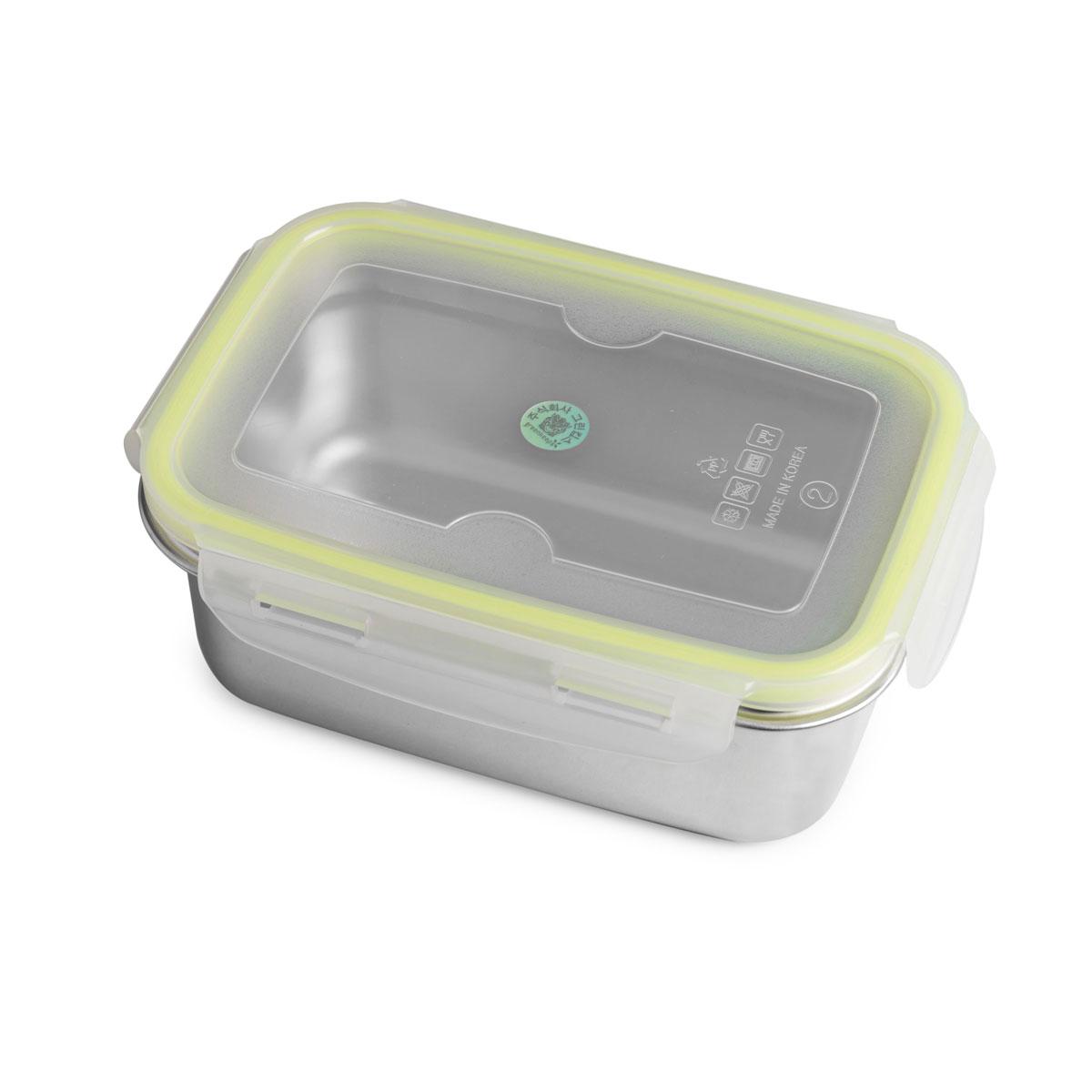 """Lunchbox Medium 950ml aus Edelstahl mit praktischem Klickverschluss """"Brotzeit Klick"""" - 100% BPA frei, fest verschliessbar von Brotzeit"""