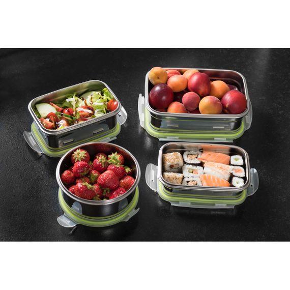 """Lunchbox Medium 950ml aus Edelstahl mit praktischem Klickverschluss """"Brotzeit Klick"""" - 100% BPA frei, fest verschliessbar - Bild 4"""